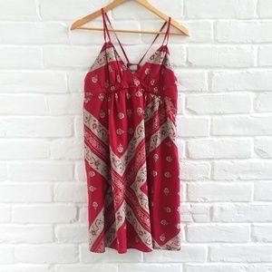 Converse One Star Bandana Burgundy Red Tan Dress M